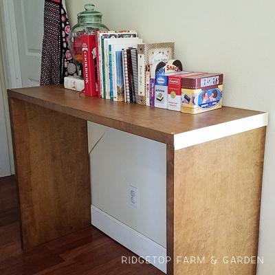 Closet Door Turned Hall Table