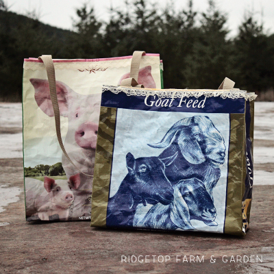 Recycled Feed Sack Turned Tote Bag