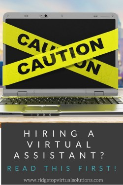 Hiring a Virtual Assistant- Watch Out for these Red Flags PINTEREST