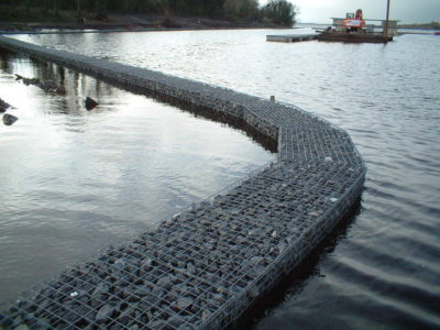Gabions can be used for marine walkways