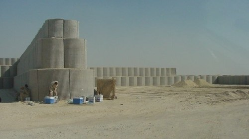 Bastions provide strong barricades using on site fill.