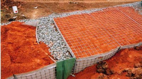 Bastions use on-site fill and can be front filled with stones.
