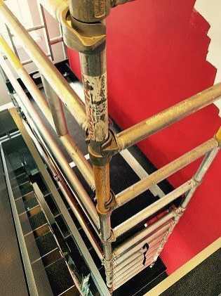 Ridgeway Stairwell Scaffolding