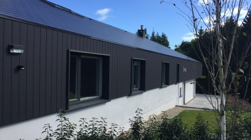 150 Flush Barn Black Dura Cladding