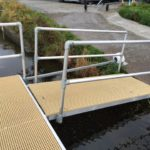 Pontoon and Jetty at Craigantlet Reservoir, N Ireland to Lakeland Jetties_22mm Sand Minimesh