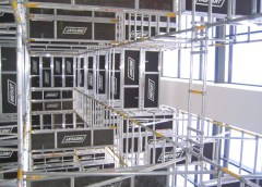 Mobile aluminium scaffolding towers