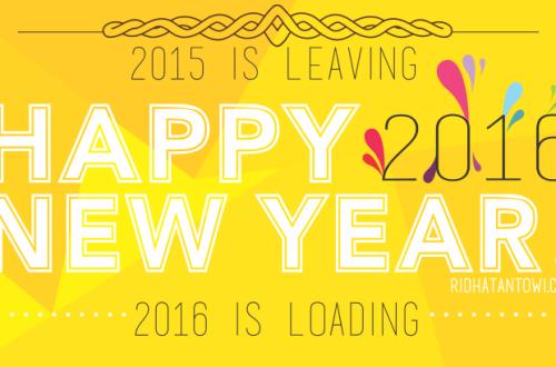 Happy New Year 2016 Ridha Tantowi