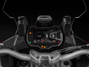 Despite looking like a Star Wars console, the Ducati interface is quite easy to use.
