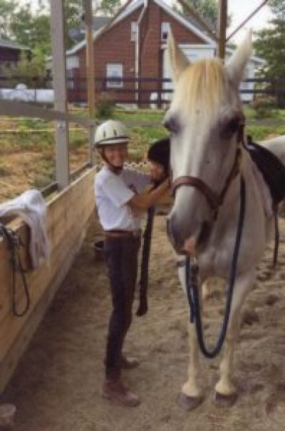 Shirley Dubay and horse