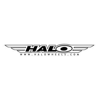 Adesivo Halo medio da furgone, 60x20cm. Disponibile bianco o nero.