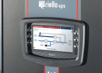 display panel on a Riello UPS Next Energy NXE uninterruptible power supply