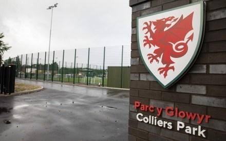 Entry sign at FAW Colliers Park football training ground