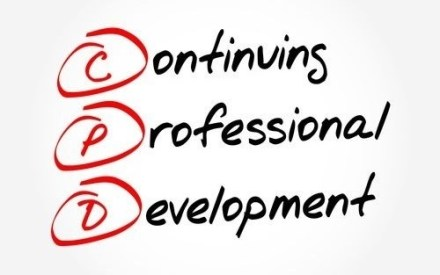 whiteboard with the phrase continuing professional development (CPD)