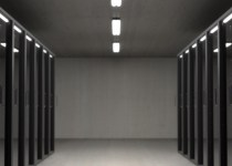data centre server room with cabinets