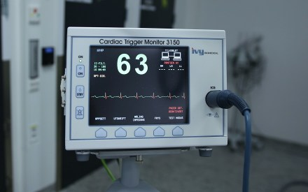 medical heart monitor in a hospital