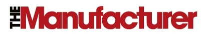 Logo for The Manufacturer magazine, red text on white background