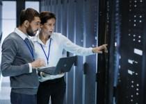 2 data centre administrators in a data centre
