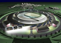 artist's impression of synchrotron diamond light source scientific research laboratory