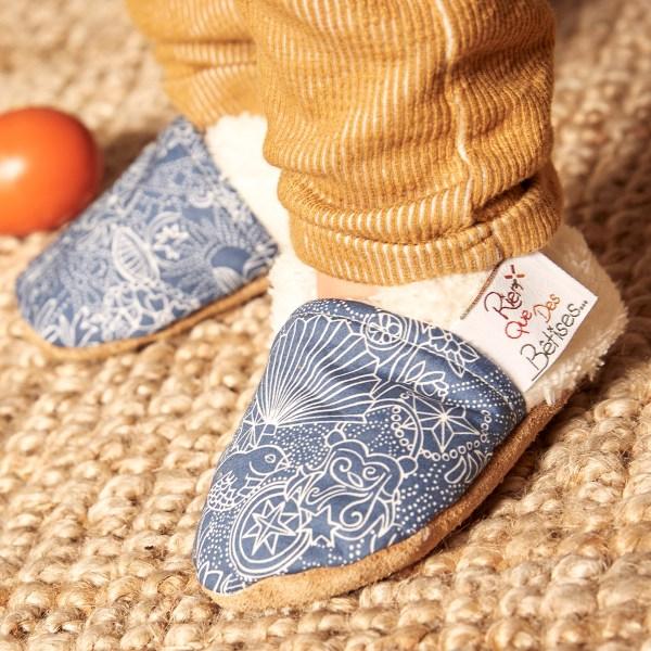chaussons bébé rien que des betises liberty