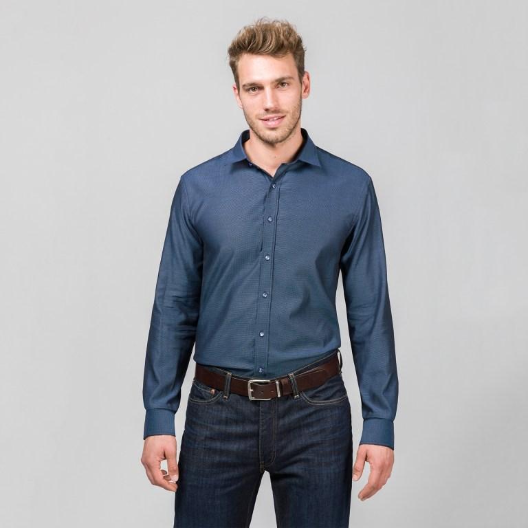 Tolles Hemd für grosse Herren mit extra langem Arm 72 cm und Überlänge von RIESENHEMD