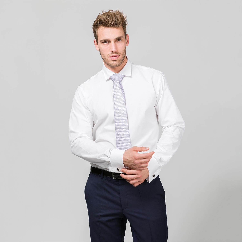 Herrenhemd mit extra langem Arm und Umschlagmanschette
