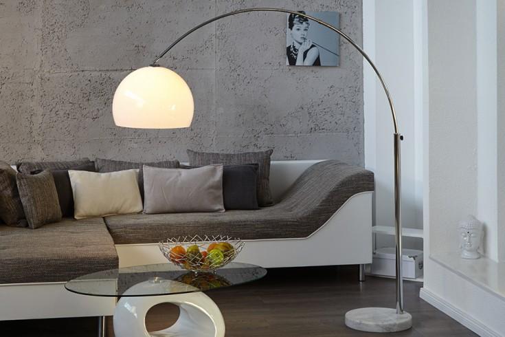 Ausziehbare Bogenlampe LOUNGE DEAL 185205cm wei dimmbar