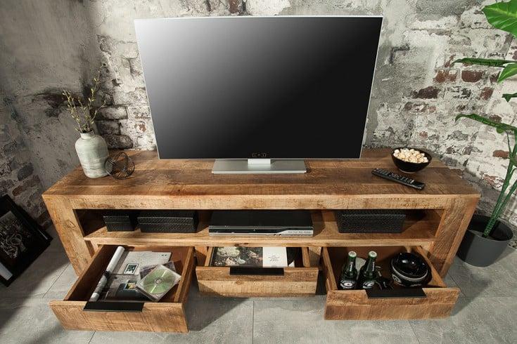 massives tv board mangoholz 170cm riess ambiente de