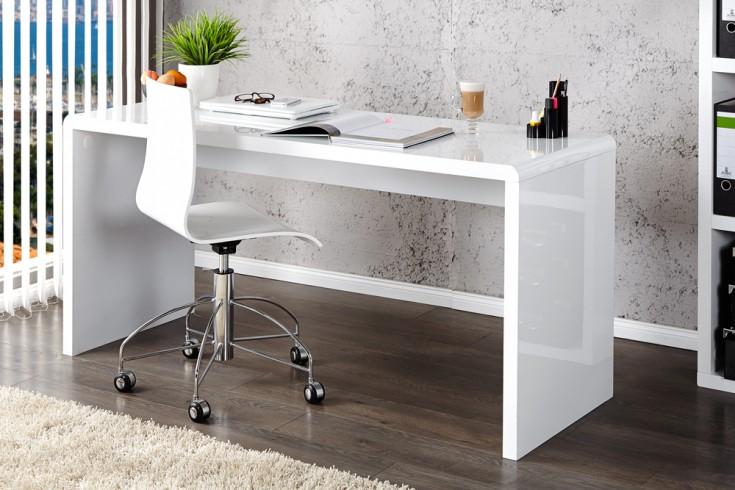 Design Schreibtisch FAST TRADE Hochglanz wei 120cm