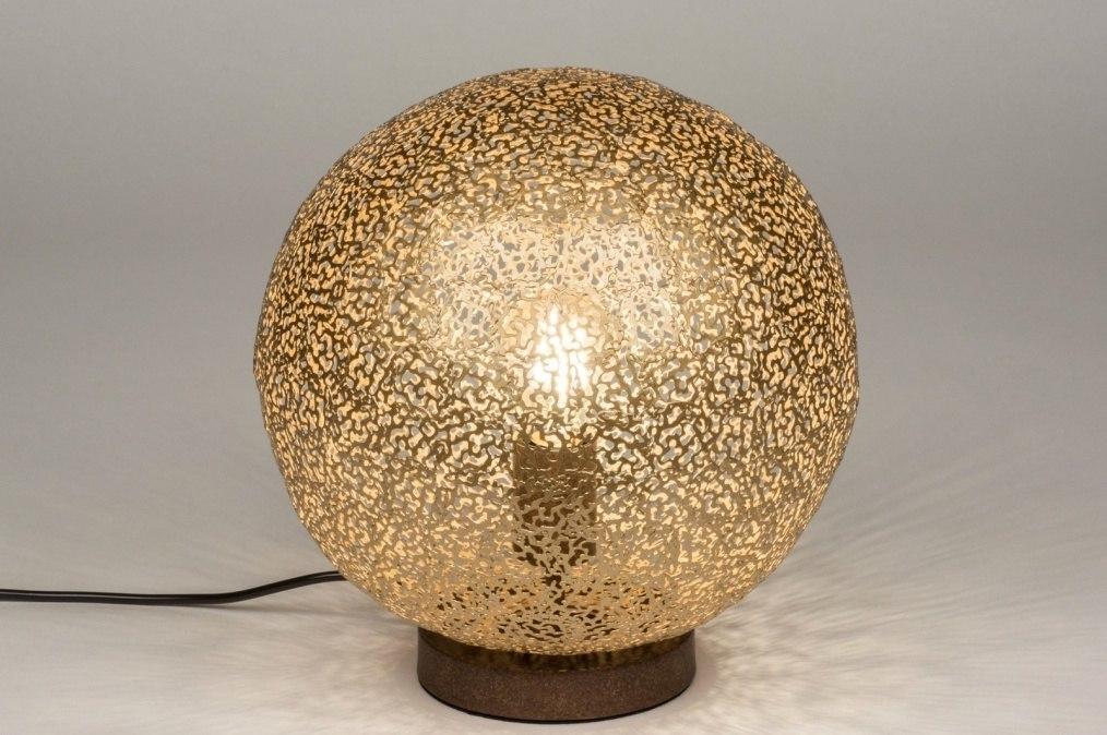 Tafellamp 11896 Modern Eigentijds Klassiek Bruin Goud