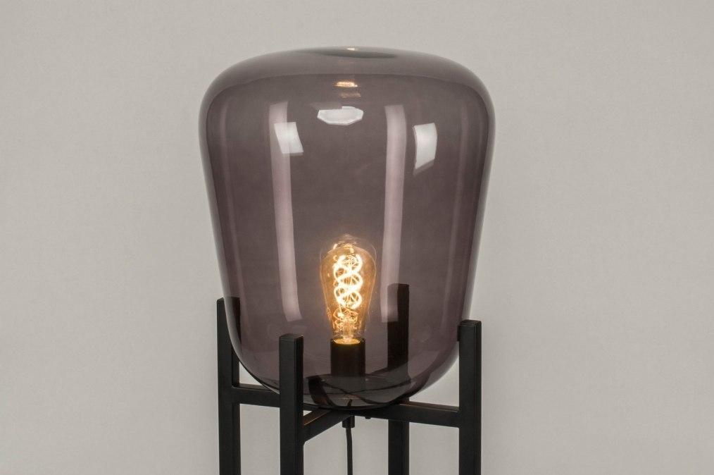 Vloerlamp 11988 Modern Retro Zwart Mat