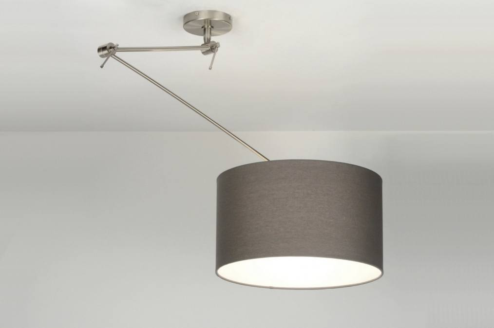 Hanglamp 30007 Modern Staal  Rvs Stof