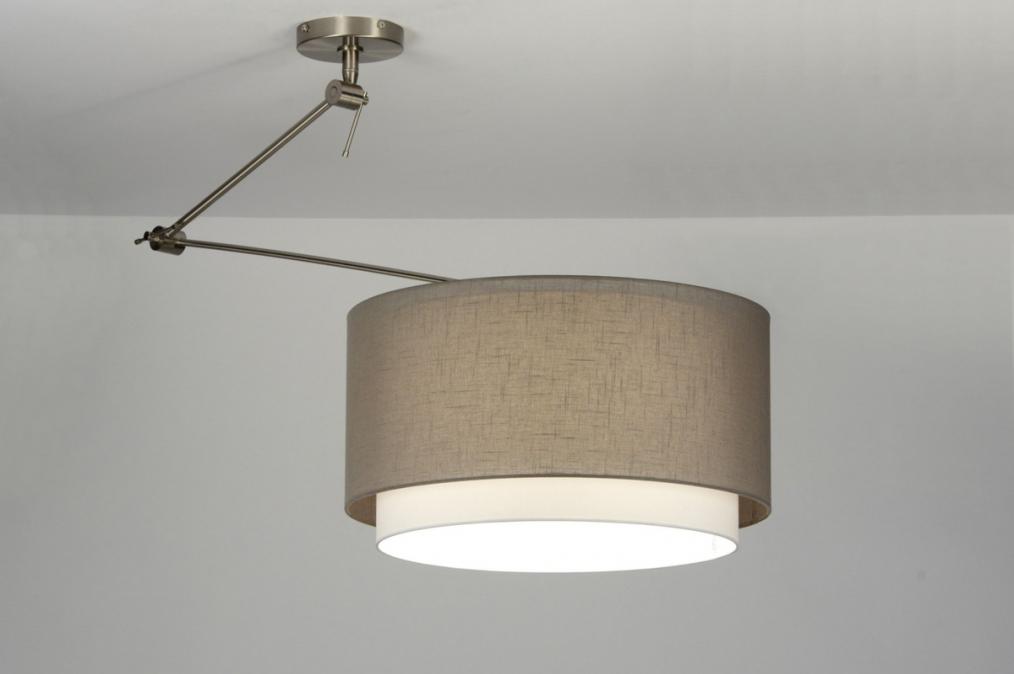 Hanglamp 30146 Modern Bruin Taupe Stof
