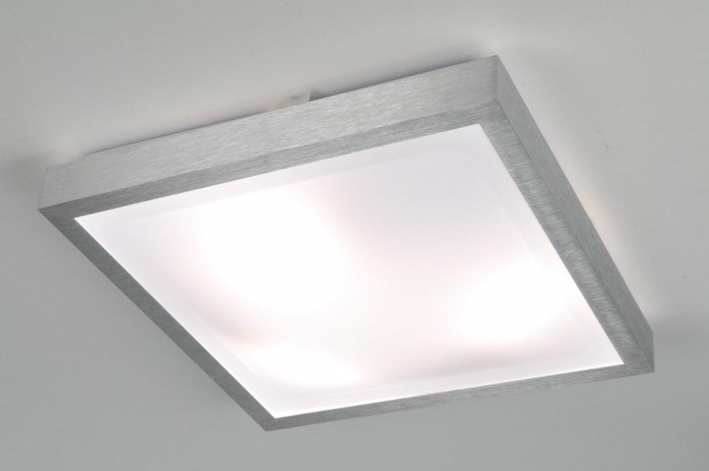 Plafondlamp 30369 Modern Aluminium Wit Aluminium