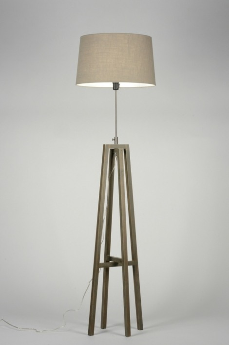 Vloerlamp 30517 Hout Stof Taupe