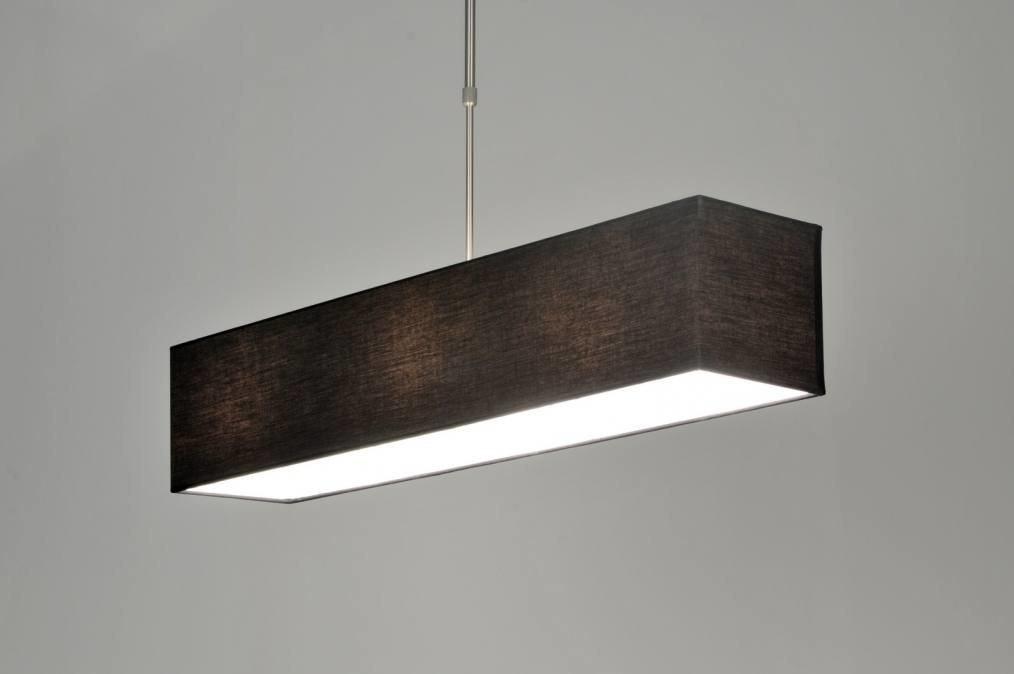 Hanglamp 71216 Modern Zwart Stof Rechthoekig