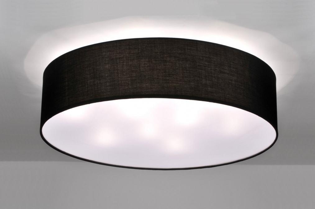 Plafondlamp 71272 Modern Eigentijds Klassiek Zwart Stof
