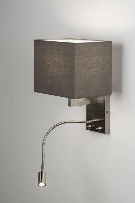 Wandlamp 72046 Modern Metaal Staal  Rvs