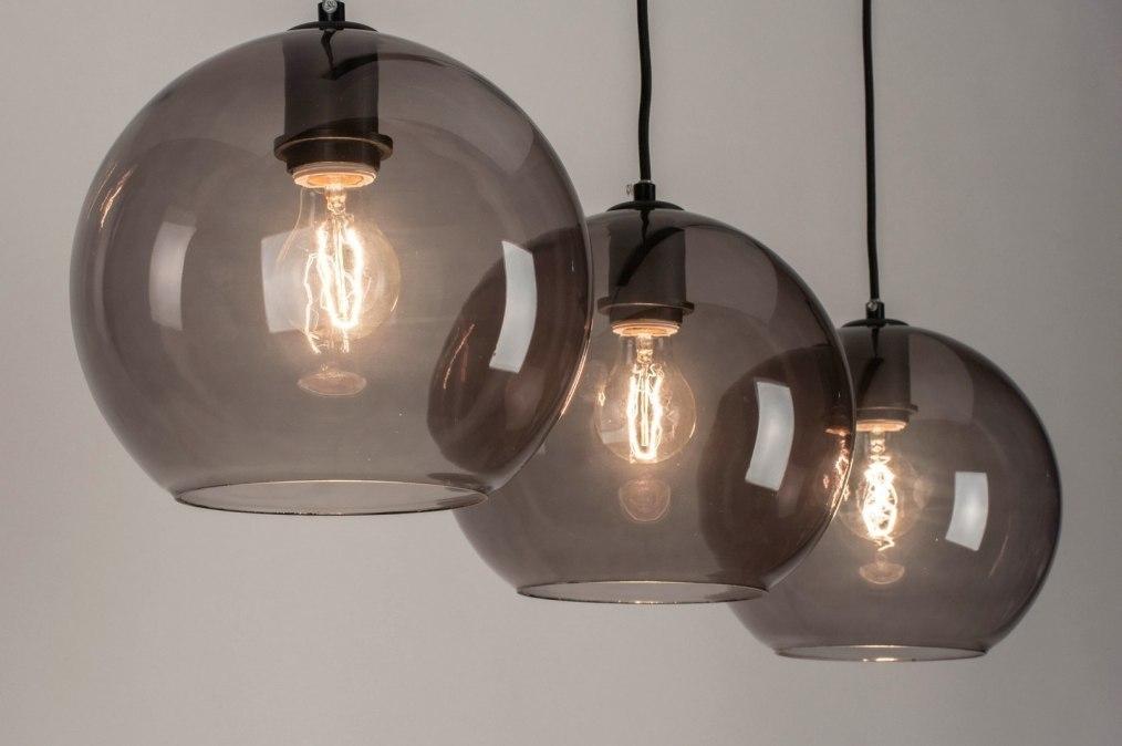 Hanglamp 73124 Modern Retro Glas Metaal