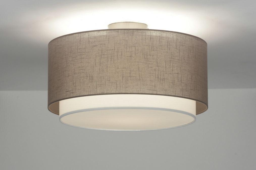 Plafondlamp 87179 Modern Retro Metaal Stof