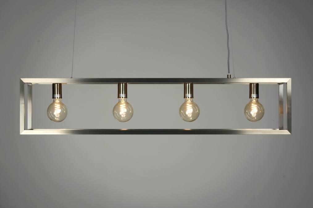 Hanglamp 87313 Modern Design Staalgrijs Staal Rvs