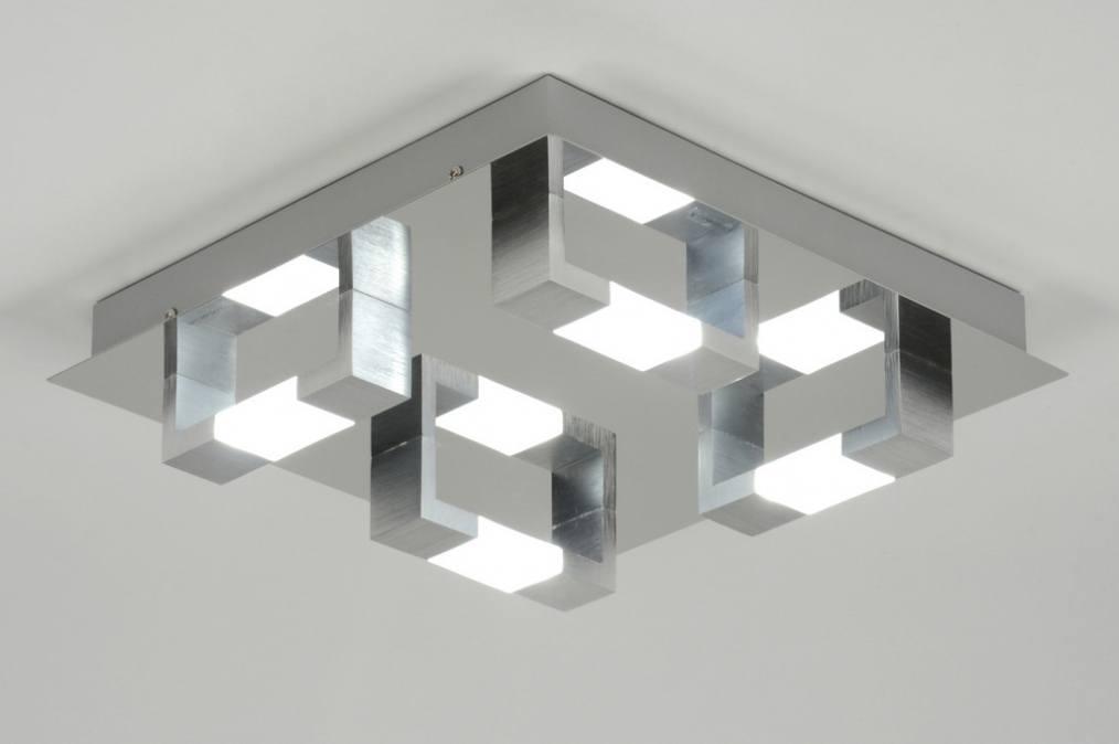 Plafondlamp 89145 Modern Chroom Aluminium Geschuurd