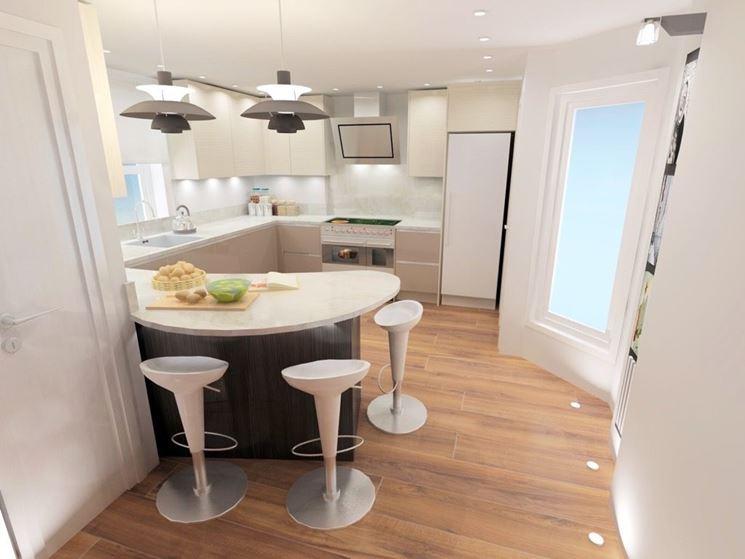 Cucina con penisola curva come progettarla  Cucina