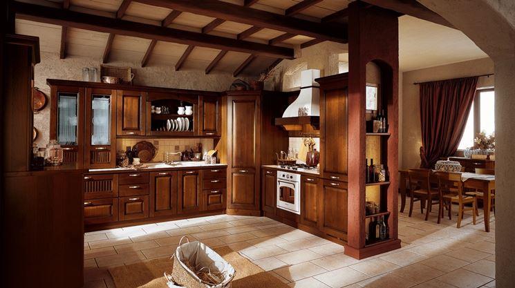 Cucina in arte povera soluzione progettuale  Cucina