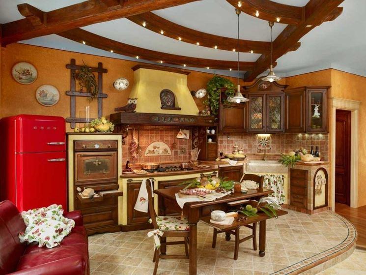 Cucina rustica idea di progetto  Cucina