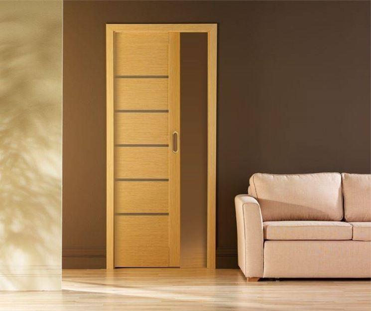 Montare una porta scorrevole interna al muro  Porte