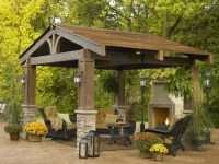 Screened In Gazebo With Fire Pit - Pergola Gazebo Ideas