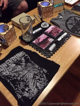 Horehound merch table - Photo by Leanne Ridgeway