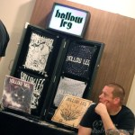 Brent of Hollow Leg at their merch table - Photo by Leanne Ridgeway