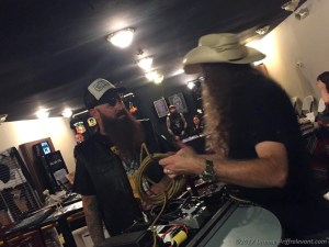 Cornbread of The Watchers chats with Kent of Wo Fat - Photo by Leanne Ridgeway