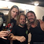Jeremy and Carter of The Watchers with Michael of Wo Fat (center) - Photo by Leanne Ridgeway